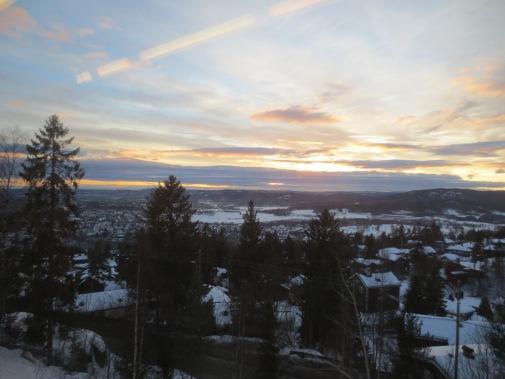 last sunset in Oslo